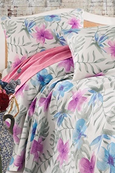 Lady Moda Spring Ranforce Tek Kişilik Nevresim Takımı Renkli